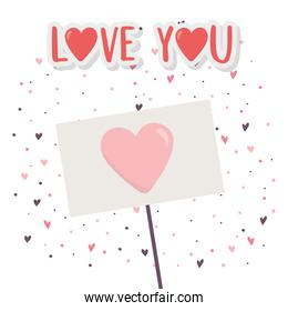 happy valentines day, signboard with heart love hearts background