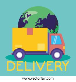 logistic delivery service with truck
