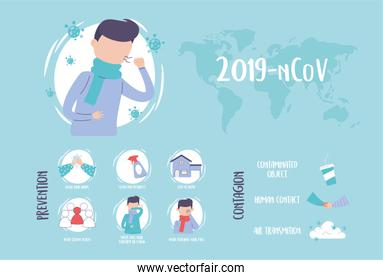 covid 19 pandemic infographic, outbreak coronavirus world, prevention and contagion