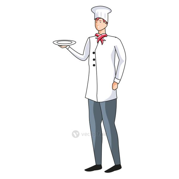 professional chef worker avatar character