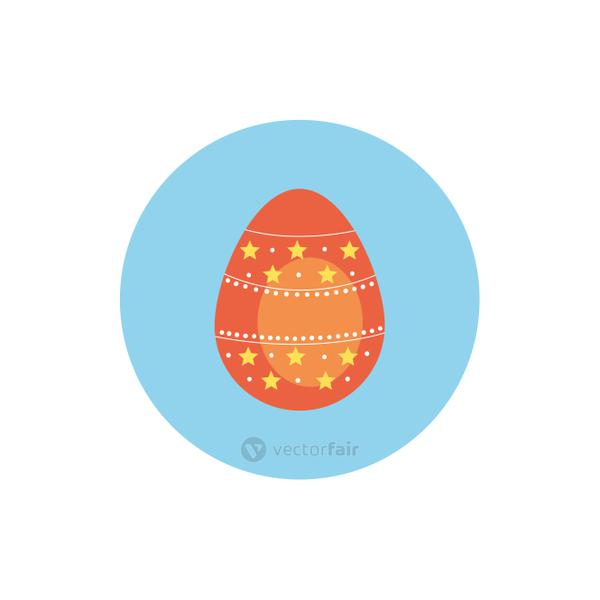 easter egg painted with stars block style