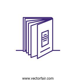 textbook supply closed isolated icon