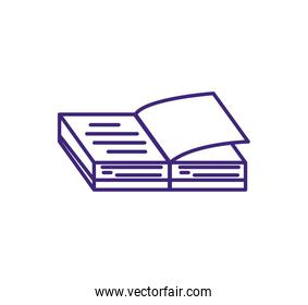 textbook open supply isolated icon