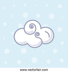 cute cloud nature isolated icon