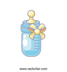 cute bottle milk baby isolated icon
