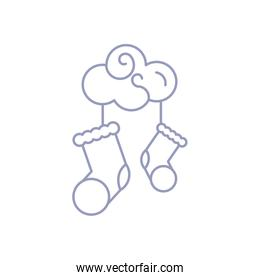 cute cloud with socks baby hanging