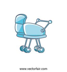 cute baby cart isolated icon