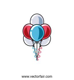 balloons helium air decoration isolated icon