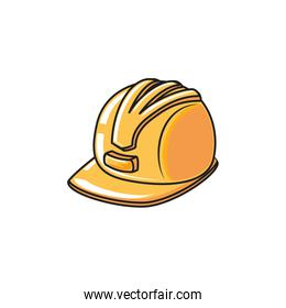 helmet secure protection isolated icon