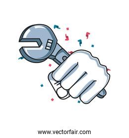 wrench key tool with hand fist power