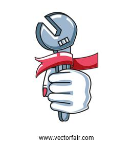 wrench with hand fist power female