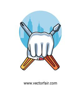 screwdrivers tools with hand fist power female