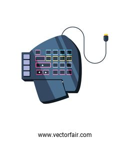 keypad of video game device