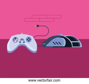 video game control with computer mouse