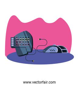 keypad and mouse of video game device