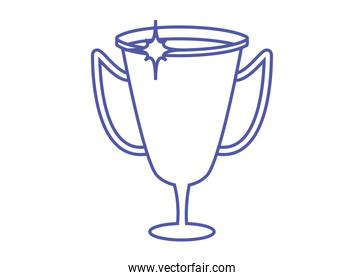 trophy cup linear style