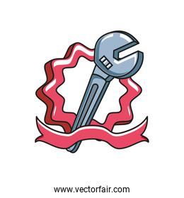 seal stamp with ribbon and wrench tool