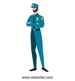 police officer worker avatar character