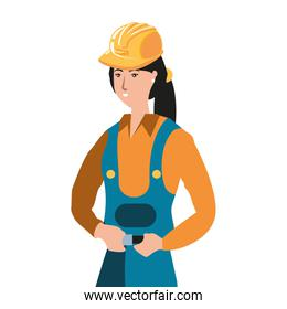 female builder worker avatar character