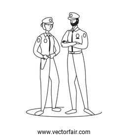couple of polices officers avatars characters