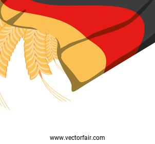 germany country flag with wheat spikes