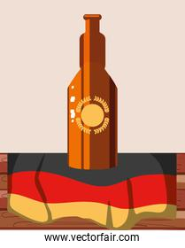 bottle beer with germany flag oktoberfest festival