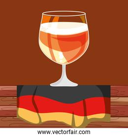 cup of beer with germany flag oktoberfest festival