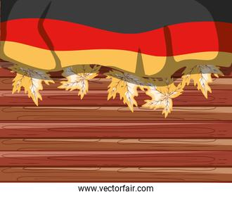 germany country flag with maple leafs