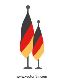 germany country flag in pole icon