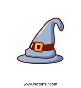 witch hat on white background
