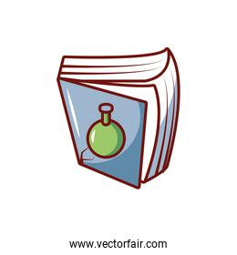 reading book isolated icon