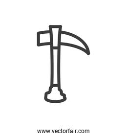 silhouette of ax tool on white background
