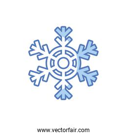 cute snowflakes on white background