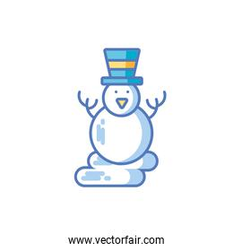 snowman with hat on white background