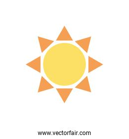 sun spring season isolated icon