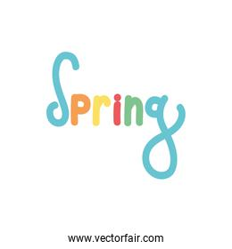 spring season word with colors letters