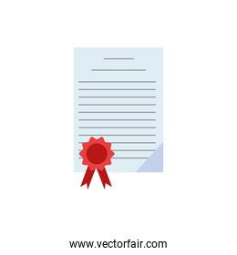 diploma certificate graduation isolated icon