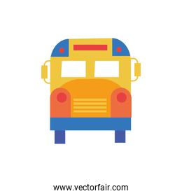 bus school transport isolated icon