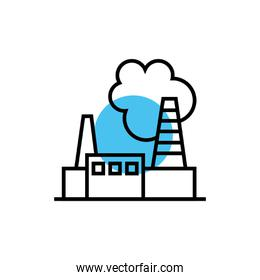 factory buildings facade isolated icon