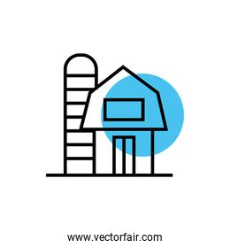 building front facade isolated icon