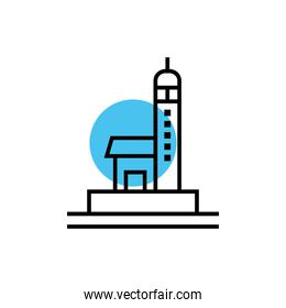 airport control tower isolated icon