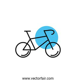 bicycle vehicle line style icon