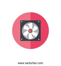 fan home appliance isolated icon