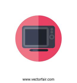 microwave home appliance isolated icon