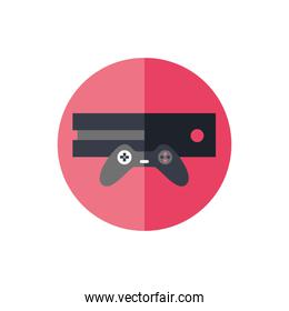 video game console and control isolated icon