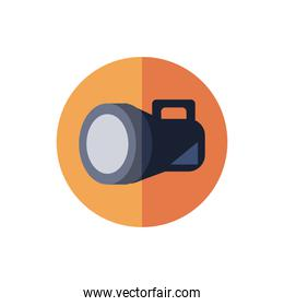 flash light device isolated icon