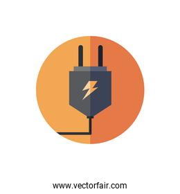 energy connector wire isolated icon