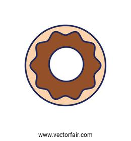 sweet donut pastry isolated icon