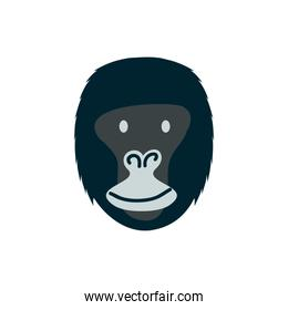 cute gorilla wild animal character icon