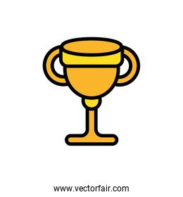 trophy cup golden  award isolated icon